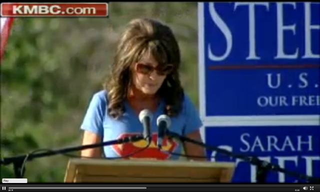Sarah Palin Dons The Hooves In Missouri  Updated X 4 -2531