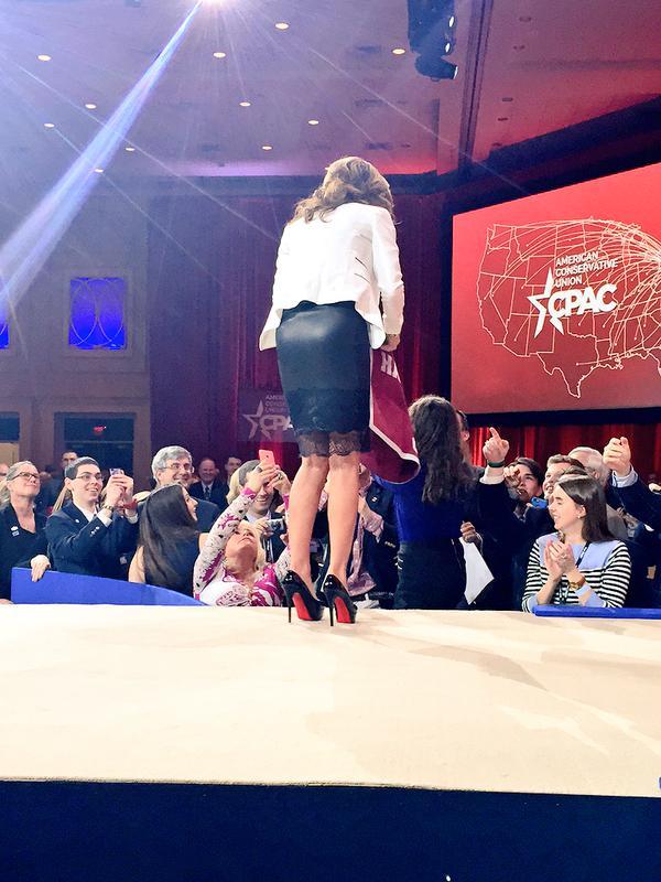Sarah Palin Leather Skirt