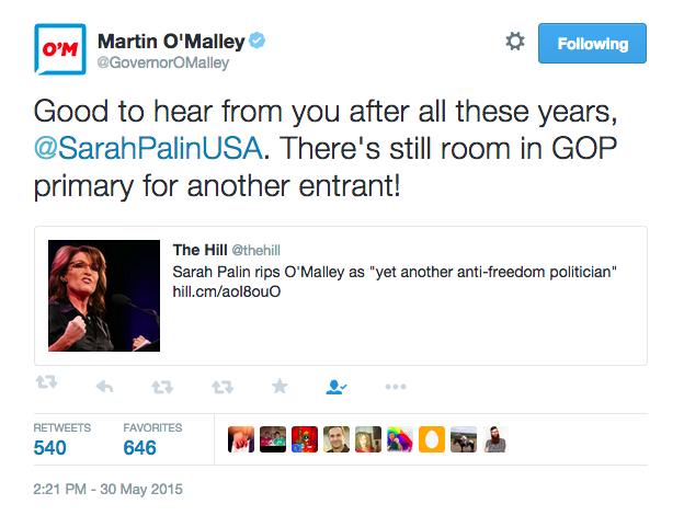 o'malley tweet