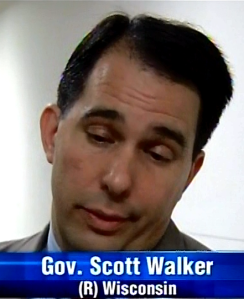 Scott Walker shrugs